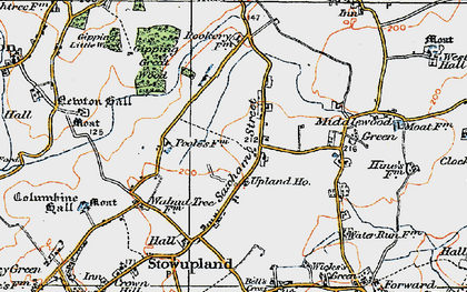 Old map of Lapwings in 1921