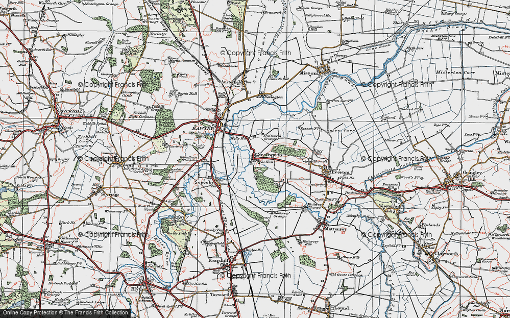 Old Map of Historic Map covering Ling's Wood in 1923