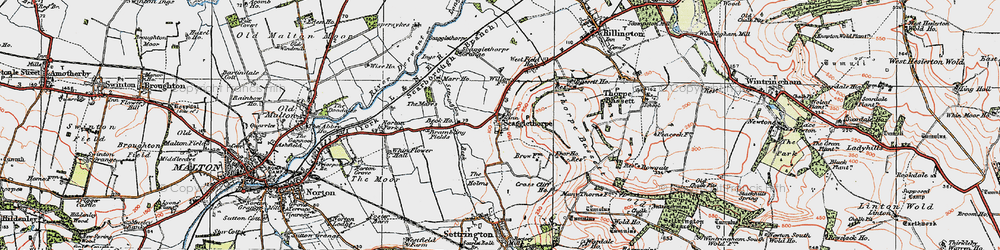 Old map of Whinflower Hall in 1924