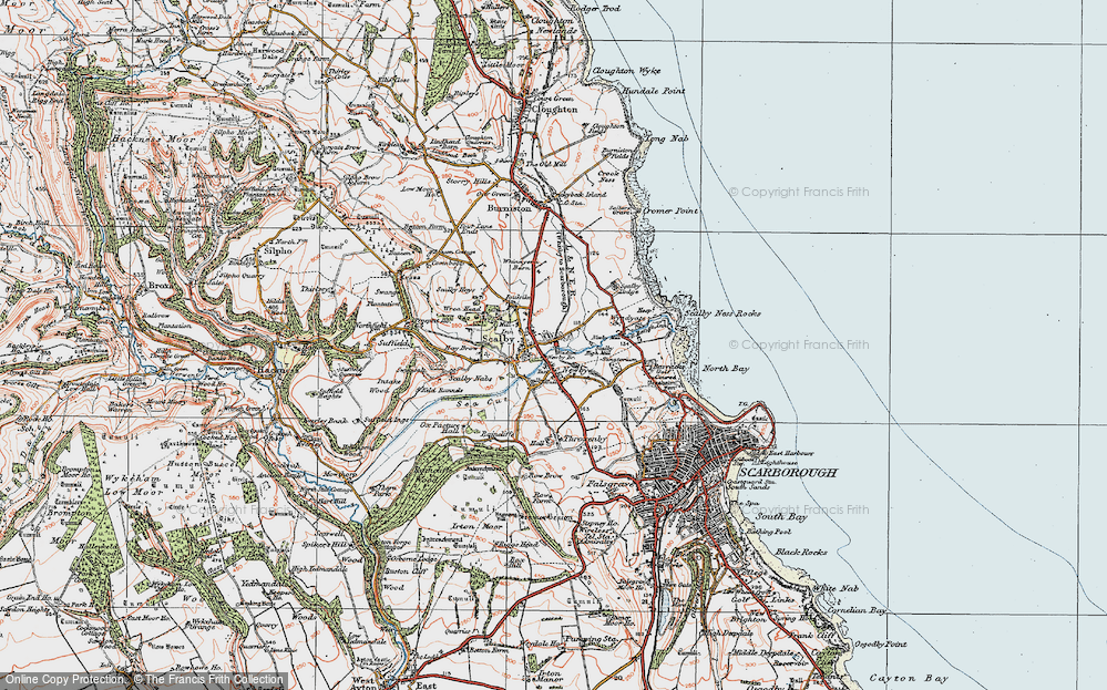 Old Map of Scalby, 1925 in 1925