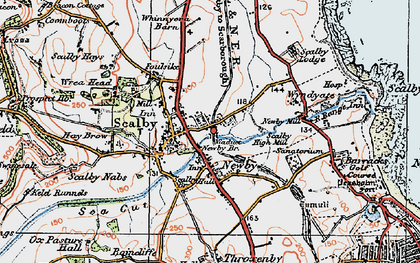 Old map of Scalby in 1925