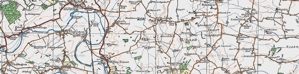 Old map of Wigney Wood in 1919