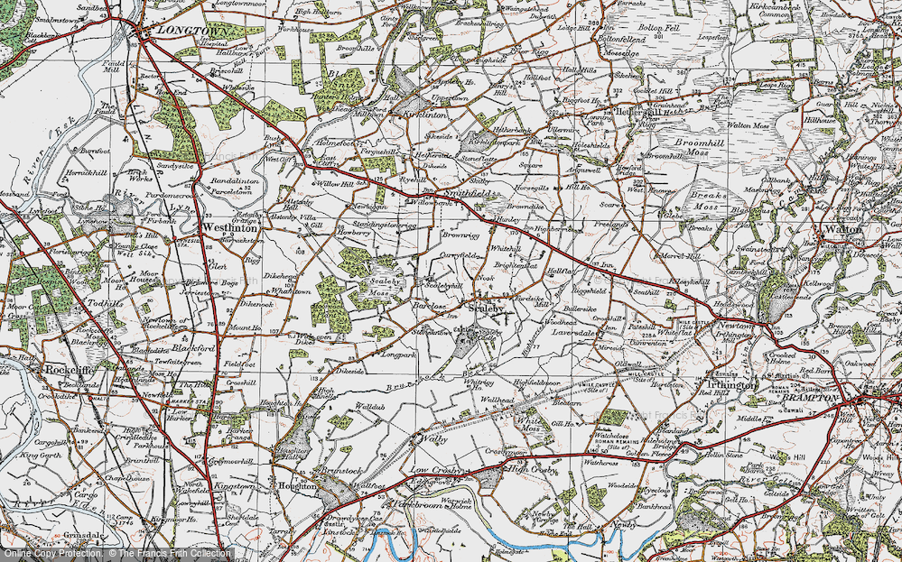 Old Map of Scalebyhill, 1925 in 1925