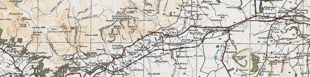 Old map of White Horse Bent in 1925