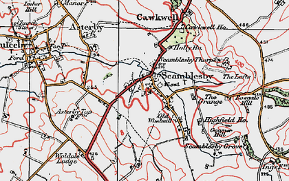 Old map of Woldale Lodge in 1923