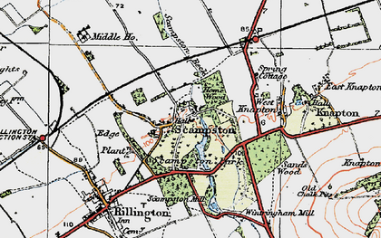 Old map of Scampston in 1925
