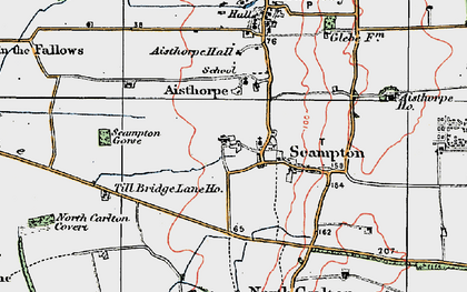 Old map of Till Bridge Lane Ho in 1923