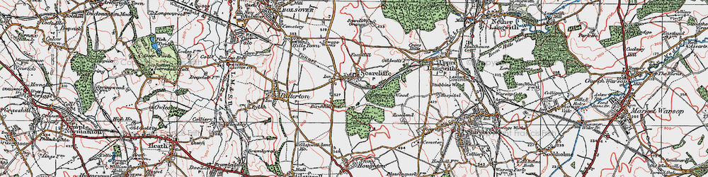 Old map of Langwith Wood in 1923