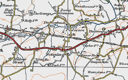 Old map of Scarning in 1921