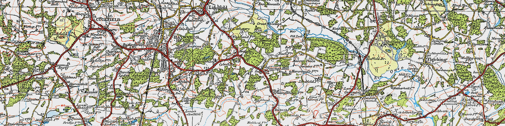 Old map of Abbots Leigh in 1920