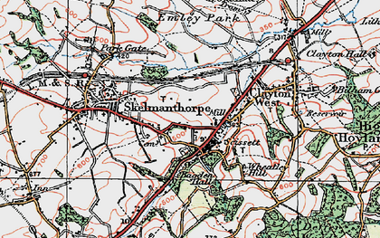 Old map of Bagden Hall in 1924