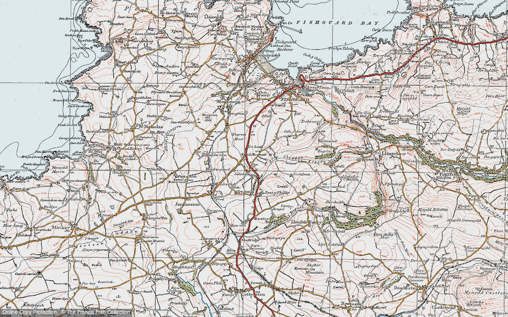 Old Map of Historic Map covering Langton in 1923