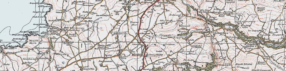 Old map of Langton in 1923
