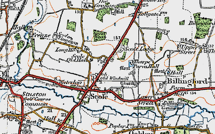 Old map of Scole in 1921
