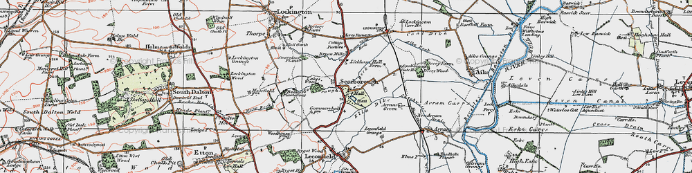 Old map of Lickham Hall in 1924