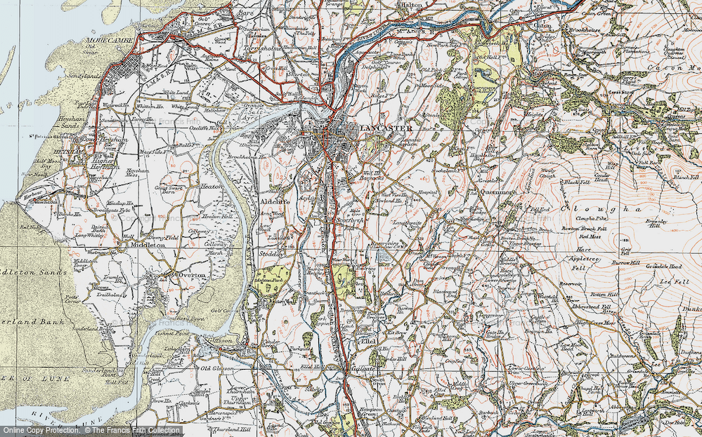 Old Map of Historic Map covering Langthwaite in 1924