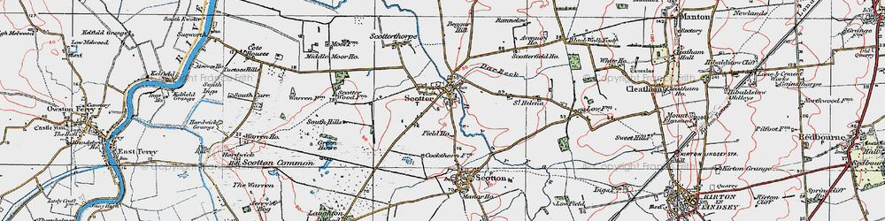 Old map of Scotter in 1923