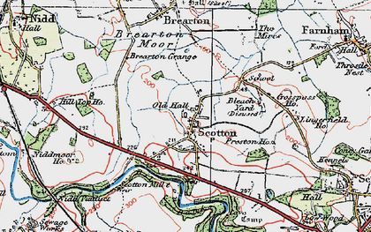 Old map of Lingerfield in 1925