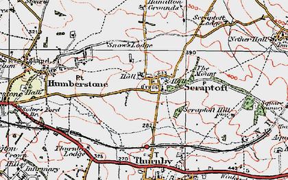 Old map of Scraptoft in 1921