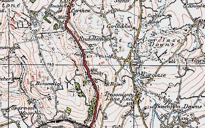Old map of Scredda in 1919