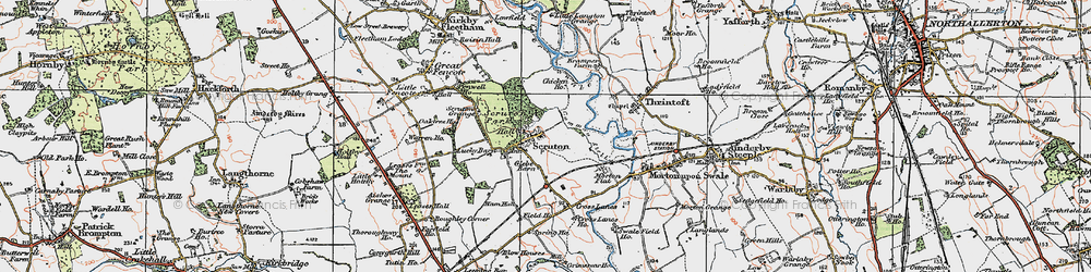 Old map of Scruton in 1925