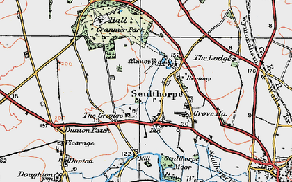 Old map of Sculthorpe in 1921