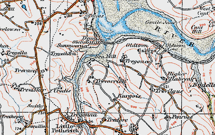 Old map of Sea Mills in 1919