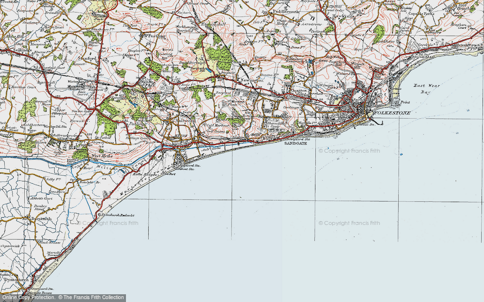 Old Map of Seabrook, 1920 in 1920