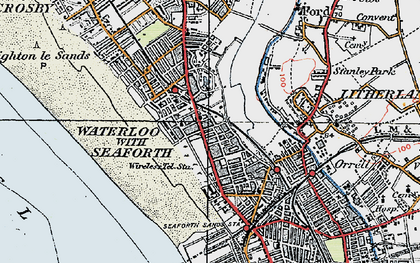 Old map of Seaforth in 1923