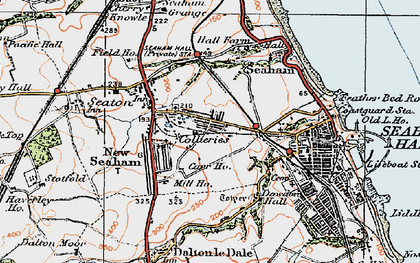 Old map of Seaham in 1925