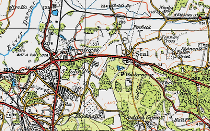Old map of Seal in 1920