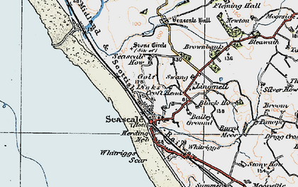Old map of Whitriggs in 1925