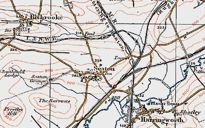Old map of Seaton in 1921