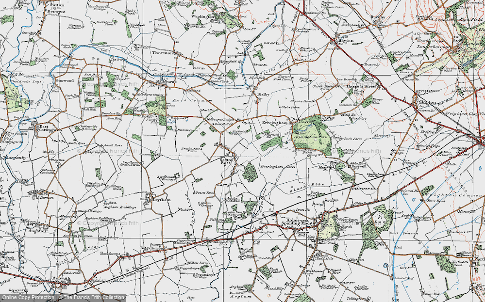 Old Map of Seaton Ross, 1924 in 1924