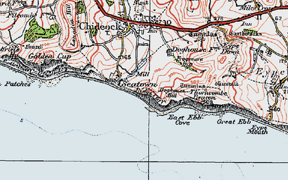 Old map of Western Patches in 1919