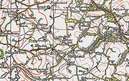 Old map of Seaureaugh Moor in 1919