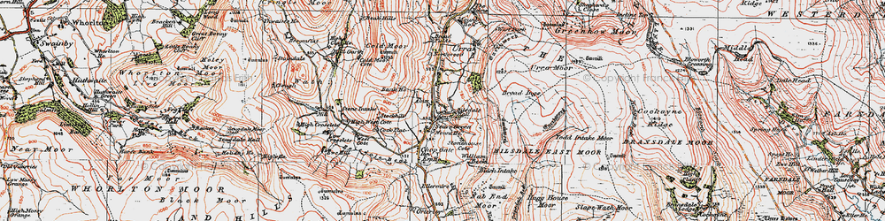 Old map of Whingroves in 1925