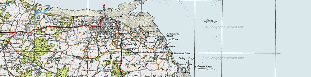 Old map of Seaview in 1919