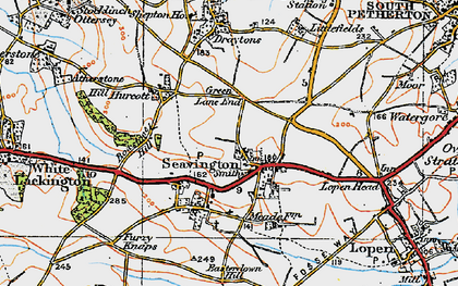 Old map of Seavington St Michael in 1919