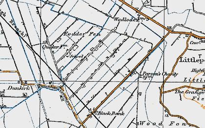 Old map of Westmoor Fen in 1920