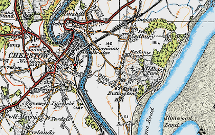Old map of Badams Court in 1919