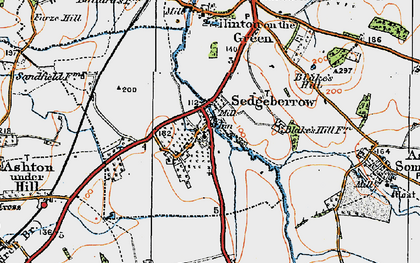 Old map of Sedgeberrow in 1919