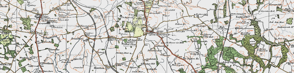 Old map of Sedgefield in 1925