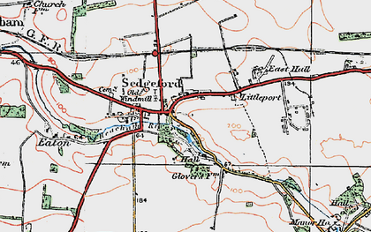 Old map of Sedgeford in 1921