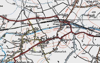 Old map of Seend in 1919