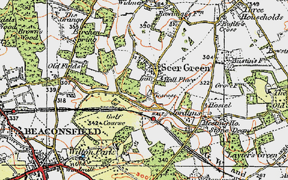 Old map of Seer Green in 1920