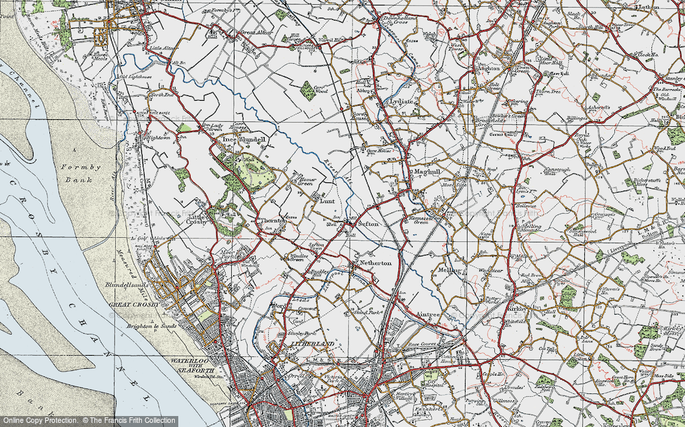 Old Map of Sefton, 1923 in 1923