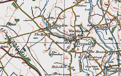 Old map of Seisdon in 1921