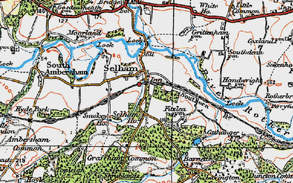 Old map of Selham in 1920