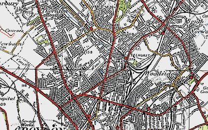 Old map of Selhurst in 1920